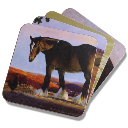 shire-horse-coaster-stack